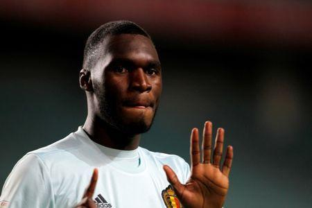 FILE PHOTO: Football Soccer - Gibraltar v Belgium - World Cup 2018 Qualifier - Algarve stadium, Faro, Portugal - 10/10/16. Belgium's Christian Benteke celebrates his goal against Gibraltar. REUTERS/Rafael Marchante/File Photo