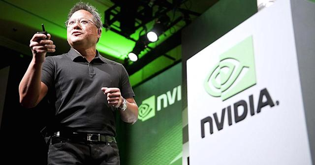 <p>Nvidia<br> Industry: Semiconductors and other Electronic Components<br> Fortune 500 Rank: 387<br> Revenues: $6,910,000,000<br> (CNBC) </p>