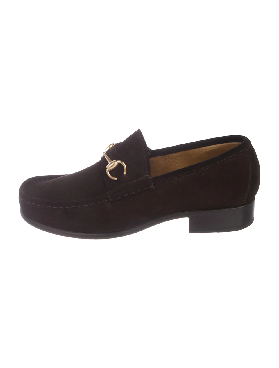 """I'd been saving up months for these and I got a coupon for some dollars off my purchase so it seemed like the perfect time to take them off my wishlist and make them mine!"" <br> <br> <strong>Gucci</strong> Suede Horsebit Loafers, $, available at <a href=""https://go.skimresources.com/?id=30283X879131&url=https%3A%2F%2Fwww.therealreal.com%2Fproducts%2Fmen%2Fshoes%2Floafers%2Fgucci-suede-horsebit-loafers-792cb%3Fposition%3D75%23%21"" rel=""nofollow noopener"" target=""_blank"" data-ylk=""slk:The RealReal"" class=""link rapid-noclick-resp"">The RealReal</a>"