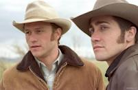 <p><strong><em>Brokeback Mountain</em></strong></p><p>This drama features sweeping views of Wyoming's mountain ranges and the compelling and conflicted relationship between Ennis and Jack.</p>