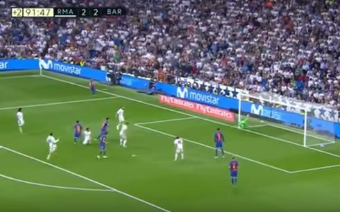 <span>17 seconds later and it's in the Real Madrid net</span> <span>Credit: Sky sports </span>