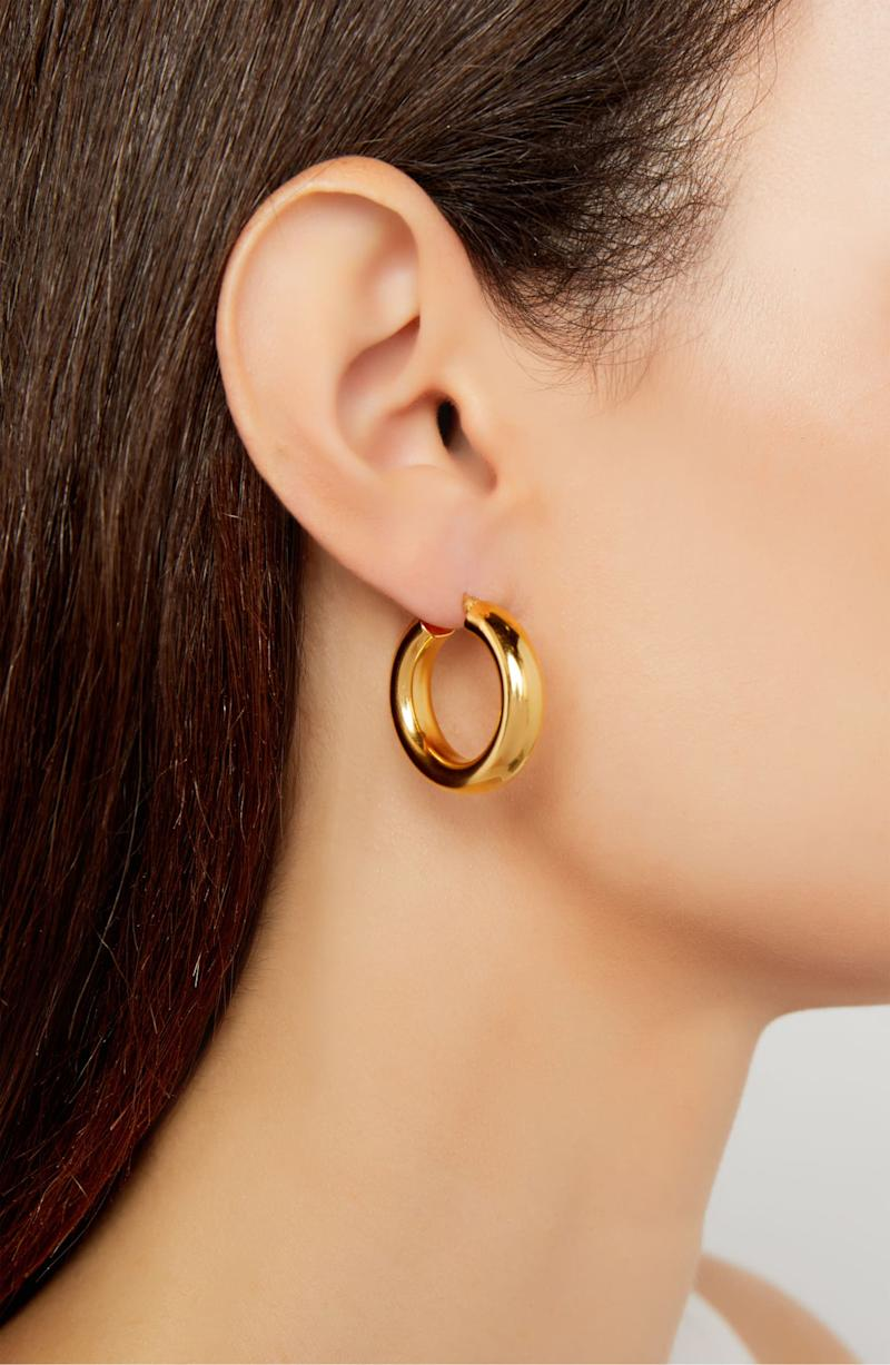 Argento Vivo Mini Tube Hoop Earrings.