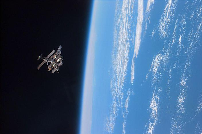 """<p>Many conspiracy theorists are wary of a space object that has become known as <a href=""""https://www.popularmechanics.com/space/satellites/a34981277/black-knight-satellite-conspiracy-theory/"""" rel=""""nofollow noopener"""" target=""""_blank"""" data-ylk=""""slk:the Black Knight satellite"""" class=""""link rapid-noclick-resp"""">the Black Knight satellite</a>. While experts at NASA insist it's just space junk, some believe it's an ancient alien space ship. </p>"""