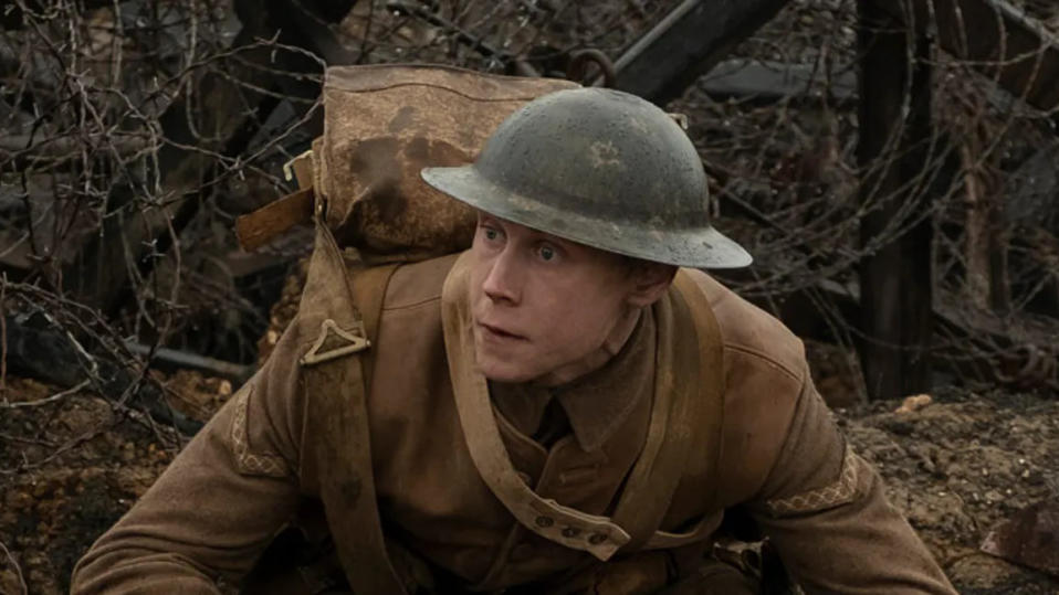 George MacKay in '1917'. (Credit: eOne)