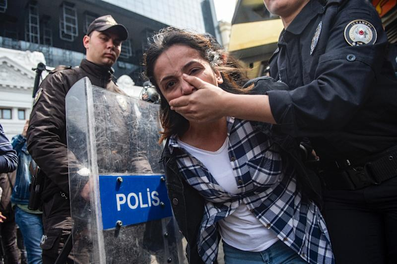 Scores of people were detained by police who said they were attempting to make their way to an unauthorised demonstration at Taksim Square
