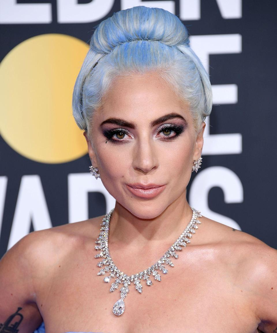 """<p>We didn't expect Lady Gaga to kick off her <em>Enigma</em> tour with anything other than a bang. And she's had several bangs in the last few weeks with many different hair hues. First, it was <a href=""""https://www.refinery29.com/en-us/2018/12/220284/lady-gaga-silver-hair-color-las-vegas"""" rel=""""nofollow noopener"""" target=""""_blank"""" data-ylk=""""slk:lilac"""" class=""""link rapid-noclick-resp"""">lilac</a>, then it was silver. And now, she's got <a href=""""https://www.refinery29.com/en-us/2019/01/220884/lady-gaga-cerulean-blue-hair-dye-tutorial-golden-globes"""" rel=""""nofollow noopener"""" target=""""_blank"""" data-ylk=""""slk:cerulean blue hair"""" class=""""link rapid-noclick-resp"""">cerulean blue hair</a>. Her stylist Frederic Aspiras used a mix of temporary hair color to get the look. What color will she bless us with next?</p><span class=""""copyright"""">Photo: Daniele Venturelli/WireImage.</span>"""