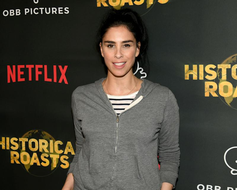 "LOS ANGELES, CALIFORNIA - MAY 20: Sarah Silverman arrives at the premiere party for the OBB Pictures and Netflix Original Series ""Historical Roasts"" featuring Jeff Ross at Landmark Theatre on May 20, 2019 in Los Angeles, California. (Photo by Kevin Winter/Getty Images)"