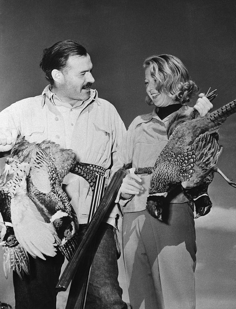 """<p>In the late 1930s, Hemingway became infatuated with a young journalist named Martha Gellhorn. Similarly to what happened between Richardson and Pfeiffer, Gellhorn was a friend to Hemingway and his wife <a href=""""https://www.biography.com/news/ernest-hemingway-wives"""" rel=""""nofollow noopener"""" target=""""_blank"""" data-ylk=""""slk:before their affair began"""" class=""""link rapid-noclick-resp"""">before their affair began</a>. The couple became involved as they traveled together covering the Spanish Civil War. By 1940, Hemingway was divorced again. </p>"""