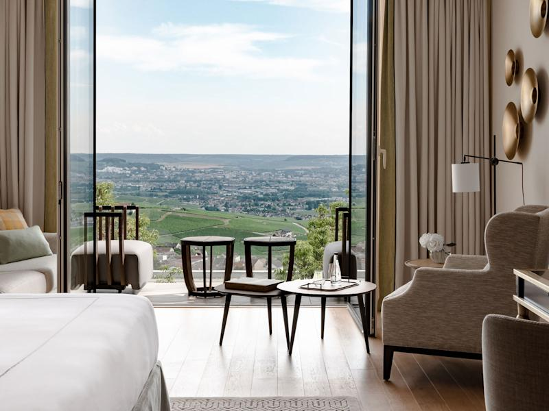 The view from The Royal Champagne Hotel & Spa. | Courtesy of The Royal Champagne Hotel & Spa