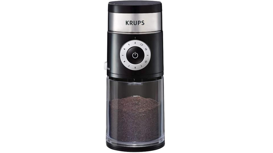KRUPS Precision Grinder Flat Burr Coffee. (Image via Amazon)