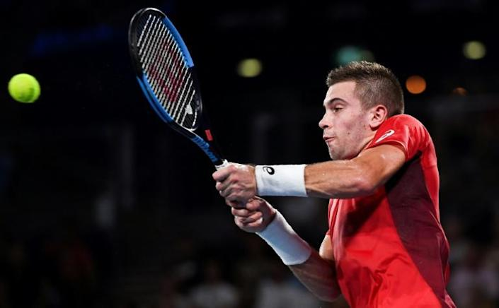 Borna Coric of Croatiawon his men's singles match against Dominic Thiem of Austria at the ATP Cup tennis tournament in Sydney (AFP Photo/William WEST)