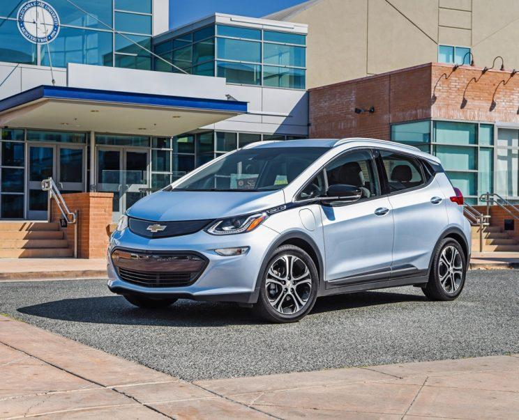 The Chevy Bolt three-quarters view.