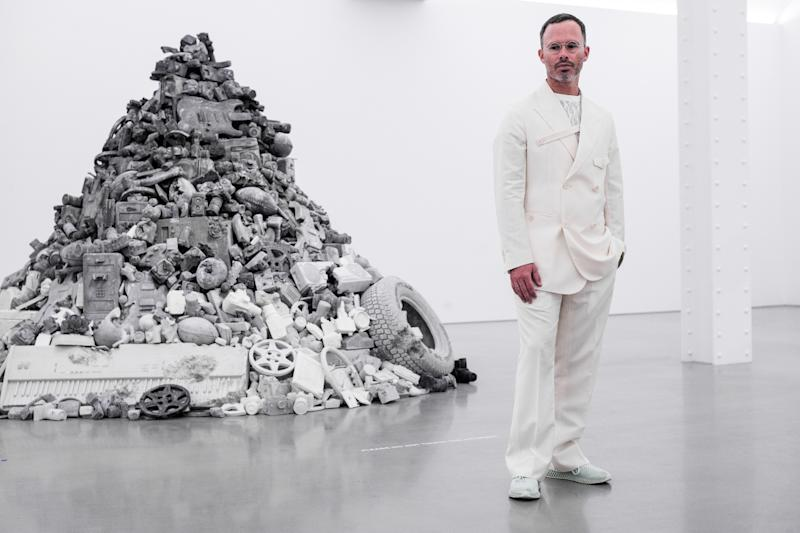 Daniel Arsham attends American Express Platinum Supports Daniel Arsham's New Exhibition at Perrotin Gallery in New York, New York.