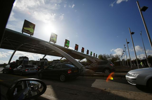A view of toll booths along the M6 Toll road in the Midlands. PRESS ASSOCIATION Photo. Picture date: Saturday October 4, 2014. Photo credit should read: Yui Mok/PA Wire