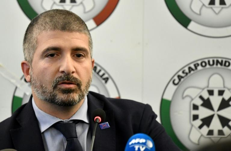 Far-right CasaPound movement's vice-President Simone Di Stefano says his group is 'anti-organised crime'