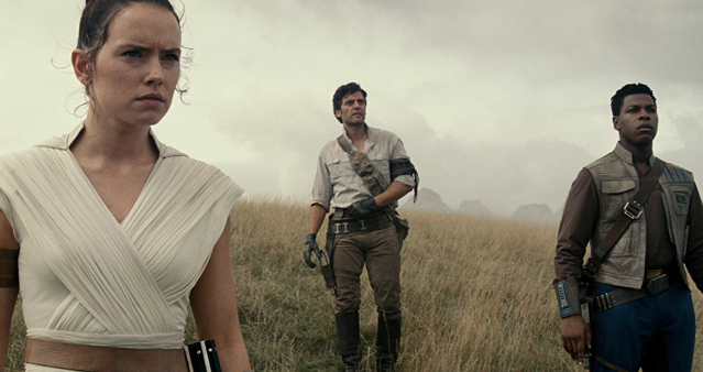 Daisy Ridley, Oscar Isaac and John Boyega in 'Star Wars: The Rise of Skywalker' (Disney/Lucasfilm)