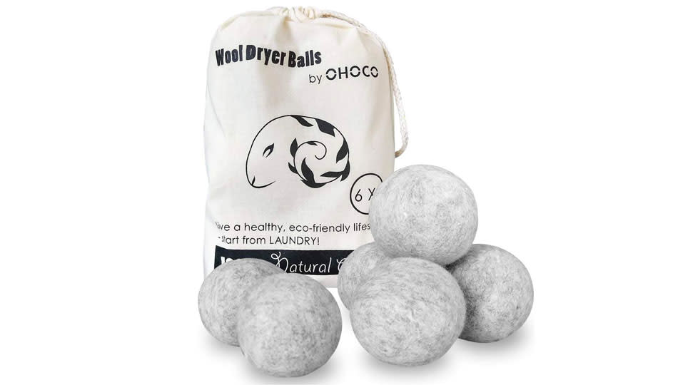 These woolen dryer balls are make from genuine New Zealand sheep, so you know they can't be baaaaad. (Photo: Amazon)