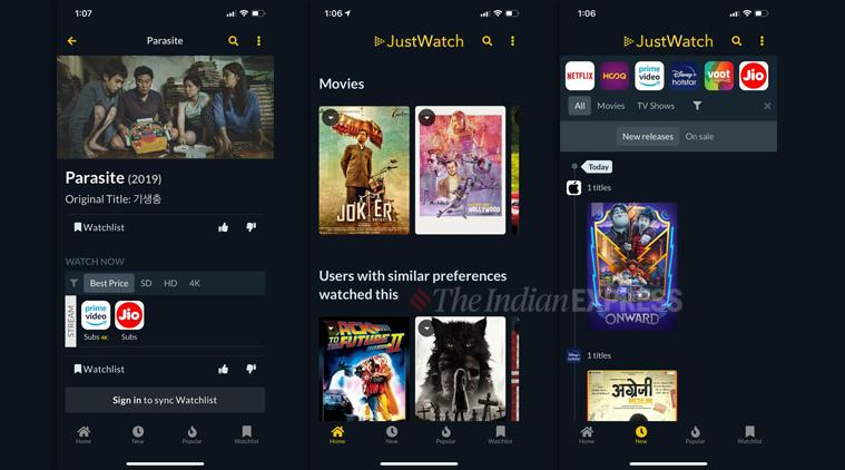 Streaming service, Streaming guide, Online streaming guide, JustWatch, Justwatch app, Flixjini, Flixjini India, Online streaming apps, Streaming guides