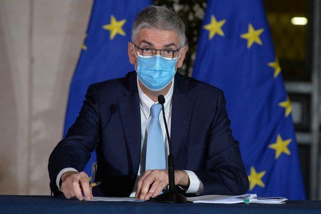 Dr Silvio Brusaferro, president of Superior Insitute of Health during the press conference to present the new Decree containing the new measures to contrast the Covid-19 pandemic. Rome (Italy), March 2nd 2021 (Photo by Stefano Carofei/Pool/Insidefoto/Mondadori Portfolio via Getty Images) (Photo: Mondadori Portfolio via Getty Images)