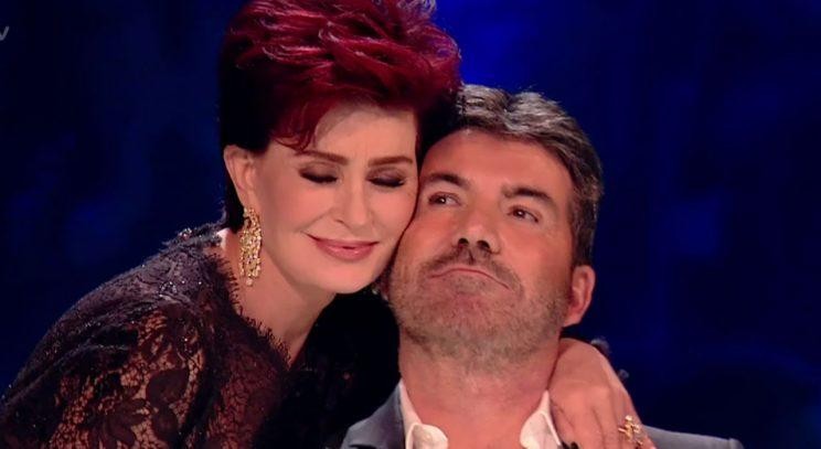 Sharon Osbourne and Simon Cowell/Wenn Photos