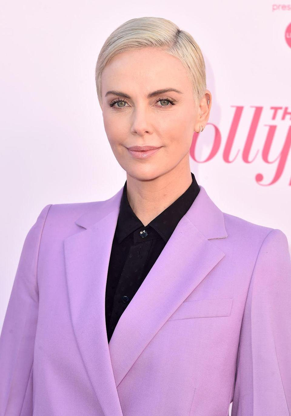 """<p>Charlize Theron has chopped hair short multiple times, most recently transitioning her <a href=""""https://www.instagram.com/p/B4JMr-OBUOo/"""" rel=""""nofollow noopener"""" target=""""_blank"""" data-ylk=""""slk:shockingly chic bowl cut"""" class=""""link rapid-noclick-resp"""">shockingly chic bowl cut</a> (for her role in <em>Fast and Furious 9</em>) into a pretty pixie.</p>"""