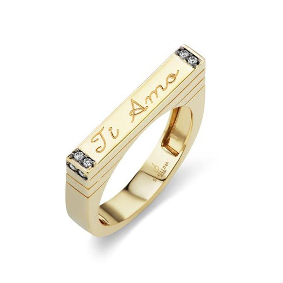 """<p><strong>Sorellina</strong></p><p>sorellinanyc.com</p><p><strong>$1250.00</strong></p><p><a href=""""https://sorellinanyc.com/products/stx-engravable-stack-ring"""" rel=""""nofollow noopener"""" target=""""_blank"""" data-ylk=""""slk:Shop Now"""" class=""""link rapid-noclick-resp"""">Shop Now</a></p><p>Stackable rings are another great way to add to a jewelry collection. I love the idea of this skinny bar ring from Sorellina. A great way to say, """"I love you"""".</p>"""
