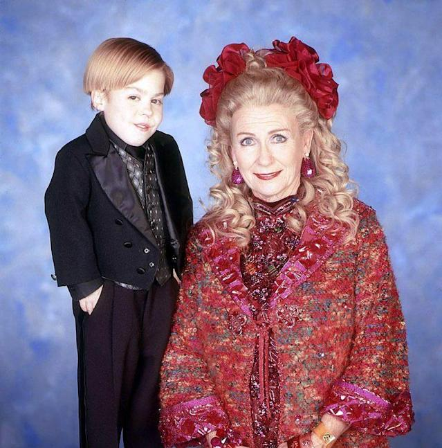 Josh Ryan Evans as Timmy and Juliet Mills as Tabitha Lenox in NBC's 'Passions' (Photo Credit: NBC)