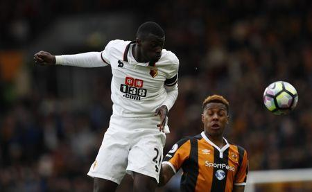 Britain Soccer Football - Hull City v Watford - Premier League - The Kingston Communications Stadium - 22/4/17 Watford's M'baye Niang in action Action Images via Reuters / Jason Cairnduff Livepic