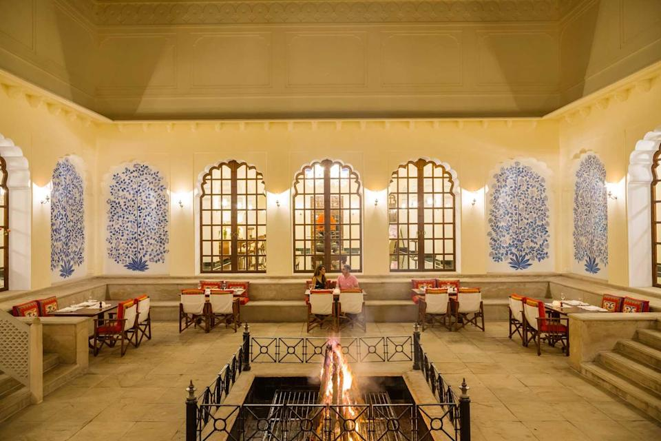 Guests dining at The Oberoi, Vanyavilas, voted one of the best hotels in the world