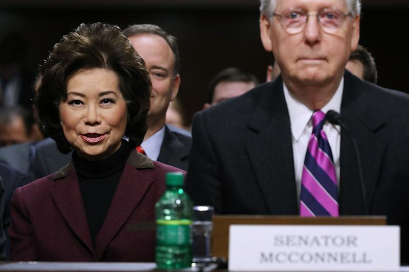 Trump Nominates Elaine Chao and Mitch McConnell's Brother-In-Law to Lead Pension Agency