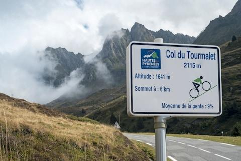 Signs track your progress up the Tourmalet at every kilometre - Credit: GETTY