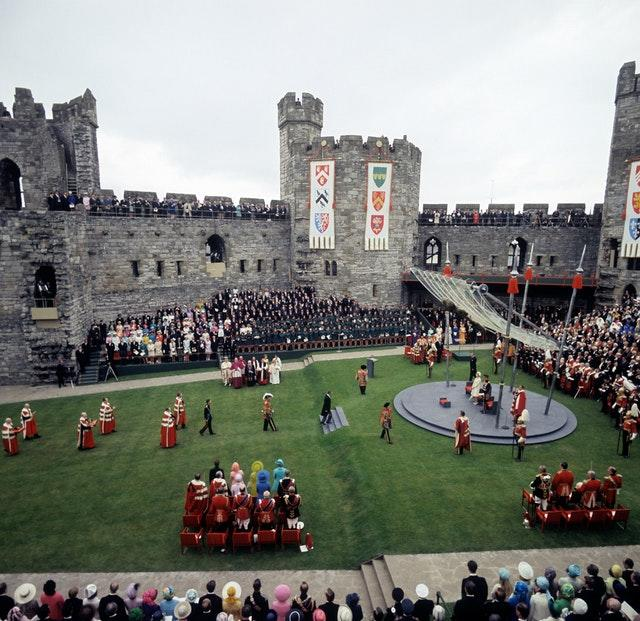 The scene at Caernarfon Castle
