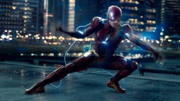 PHOTO: Ezra Miller, as The Flash, in a scene from 'Justice League.' (Warner Bros. Pictures)