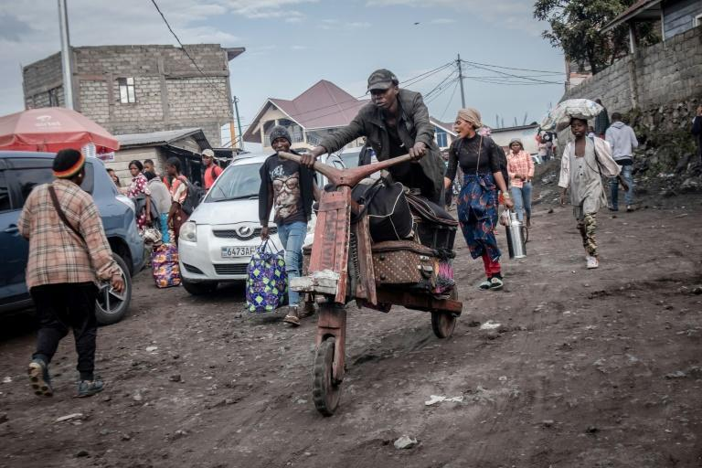 People are fleeing Goma on all forms of transport