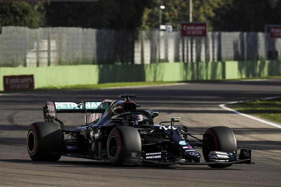 Hamilton leads Verstappen in sole practice at Imola