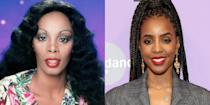 <p>Kelly Rowland may not be the Queen of Disco, but she does look strikingly similar to her. Donna Summer and Rowland both share oval faces, wide set eyes, and killer voices.</p>