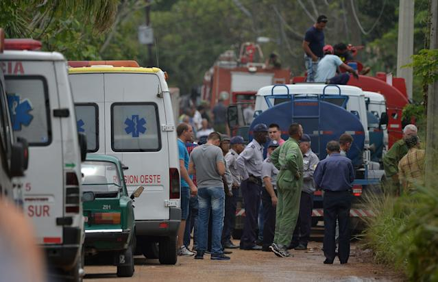 "<p>Emergency services arrive at the scene of the accident after a Cubana de Aviacion aircraft crashed after taking off from Havana's Jose Marti airport on May 18, 2018. – A Cuban state airways passenger plane with 113 people on board crashed on shortly after taking off from Havana's airport, state media reported. The Boeing 737 operated by Cubana de Aviacion crashed ""near the international airport,"" state agency Prensa Latina reported. Airport sources said the jetliner was heading from the capital to the eastern city of Holguin. (Photo: Yamil Lage/AFP/Getty Images) </p>"