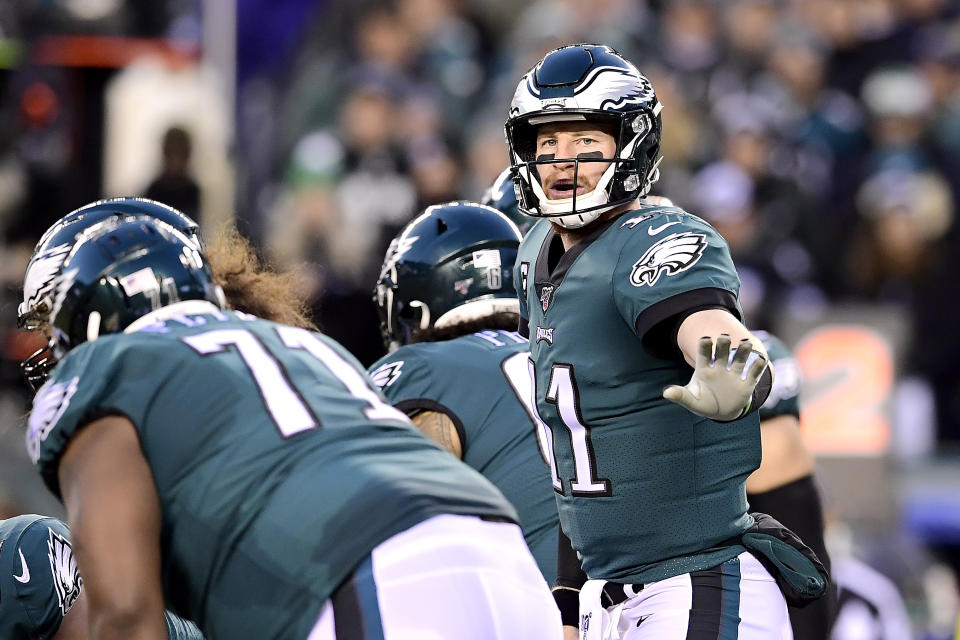 Carson Wentz's injuries have been a focus during his time with the Eagles. (Photo by Steven Ryan/Getty Images)