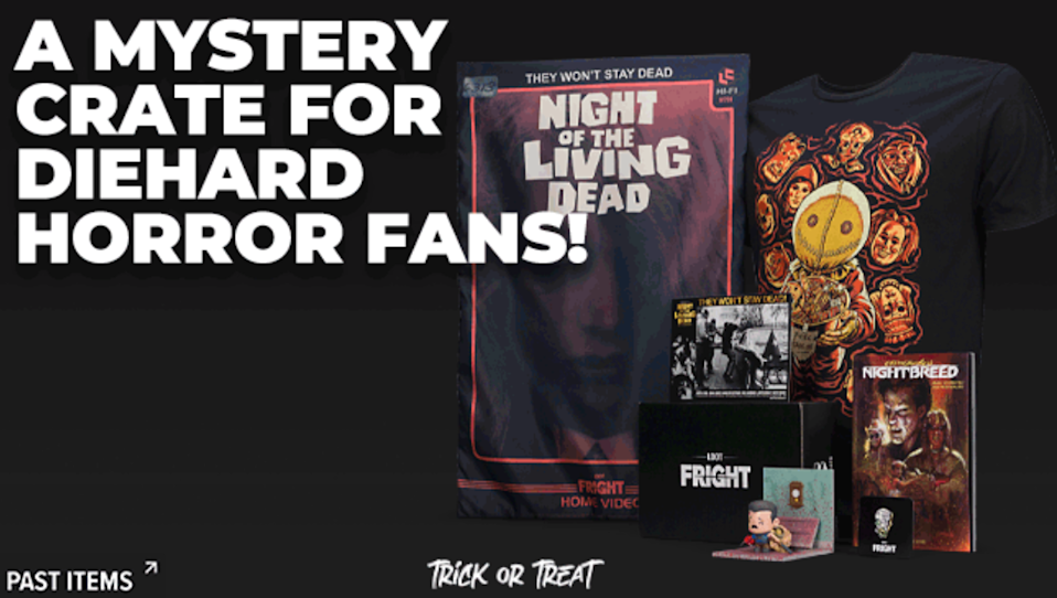 """<h3><h2>Loot Crate </h2></h3><br><strong>Horror Fan Subscription</strong><br>For the <em>Scream</em> fathers; a one, to three, six-month, or yearly shipment of exclusive horror-fan loot will surely impress — each surprise box is filled with an assortment of horror movie collectibles that dad will go nuts over.<br><br><em>Shop <strong><a href=""""https://www.lootcrate.com/gift"""" rel=""""nofollow noopener"""" target=""""_blank"""" data-ylk=""""slk:Loot Crate"""" class=""""link rapid-noclick-resp"""">Loot Crate</a></strong></em><br><br><strong>Loot Crate</strong> Horror Movies Collectibles, $, available at <a href=""""https://go.skimresources.com/?id=30283X879131&url=https%3A%2F%2Flootcrate.com%2Fproducts%2Floot-fright"""" rel=""""nofollow noopener"""" target=""""_blank"""" data-ylk=""""slk:Loot Crate"""" class=""""link rapid-noclick-resp"""">Loot Crate</a>"""