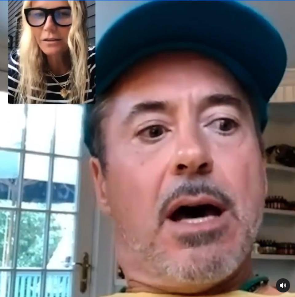 Gwyneth Paltrow and Robert Downey Jr FaceTiming