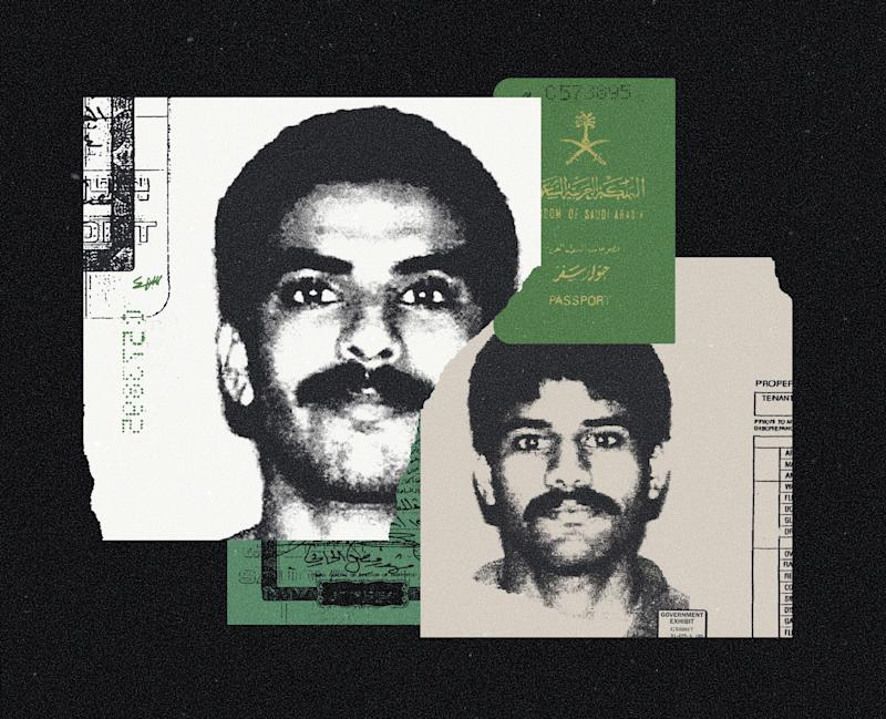 A photo illustration shows U.S. visas for Khalid al-Mihdhar and Nawaf al-Hazmi, two of the 9/11 hijackers. (Photo Illustration by Mark Weaver/The New York Times)