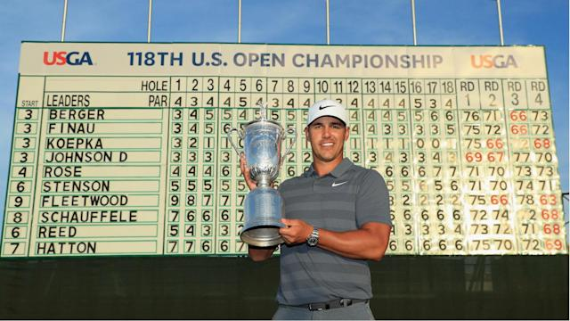 Brooks Koepka leads the United States points list after victory at Shinnecock Hills, while Tommy Fleetwood was on the rise for Europe.