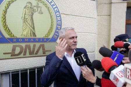 FILE PHOTO: Social Democrat Party leader Liviu Dragnea gestures after leaving the Romanian anti-corruption prosecutors headquarters in Bucharest, Romania, November 13, 2017. Inquam Photos/Octav Ganea/via REUTERS