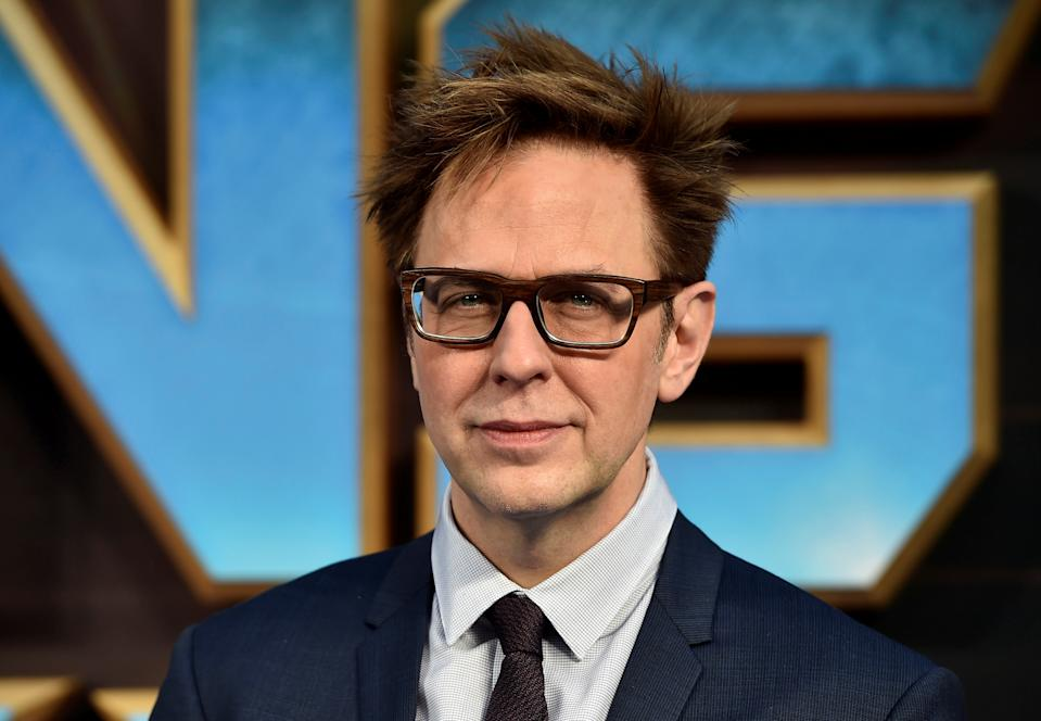 """Director James Gunn attends a premiere of the film """"Guardians of the galaxy, Vol. 2"""" in London April 24, 2017. REUTERS/Hannah McKay"""