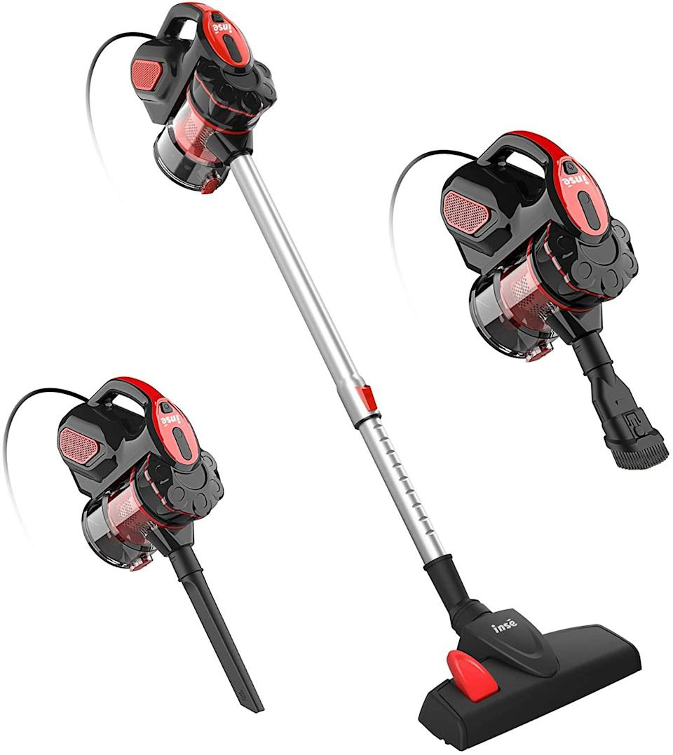 "<h2><a href=""https://www.amazon.com/INSE-Cleaner-Powerful-Multipurpose-Handheld/dp/B08L6Q28JT"" rel=""nofollow noopener"" target=""_blank"" data-ylk=""slk:INSE Cordless Stick Vacuum Cleaner"" class=""link rapid-noclick-resp"">INSE Cordless Stick Vacuum Cleaner</a></h2><br><strong>The Hype:</strong> 4.4 out of 5 stars and 1,204 ratings on <a href=""https://www.amazon.com/INSE-Cleaner-Powerful-Multipurpose-Handheld/dp/B08L6Q28JT"" rel=""nofollow noopener"" target=""_blank"" data-ylk=""slk:Amazon"" class=""link rapid-noclick-resp"">Amazon</a><br><br><strong>Clean Fiends Say:</strong> ""I really like this item. Easy to set up and it's a big help around the house. It cleans up really nicely and it picks up all the crumbs. It also cleans the corners really well, and I can take it apart to get the areas behind cabinets and tables. I would use it in the car sometimes and it cleans up nicely too. I 10/10 recommend this item."" — <br><em>jinrong guo, Amazon reviewer</em><br><em><br>Shop <strong><a href=""https://www.amazon.com/stores/InseLife/page/F0678C04-DFDB-4392-94C2-68DCCB3DFB00"" rel=""nofollow noopener"" target=""_blank"" data-ylk=""slk:Amazon"" class=""link rapid-noclick-resp"">Amazon</a></strong> </em><br><br><strong>INSE</strong> INSE Cordless Stick Vacuum Cleaner, $, available at <a href=""https://www.amazon.com/INSE-Cleaner-Powerful-Multipurpose-Handheld/dp/B08L6Q28JT"" rel=""nofollow noopener"" target=""_blank"" data-ylk=""slk:Amazon"" class=""link rapid-noclick-resp"">Amazon</a>"