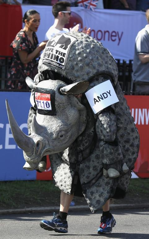 rhino costume - Credit: GETTY IMAGES