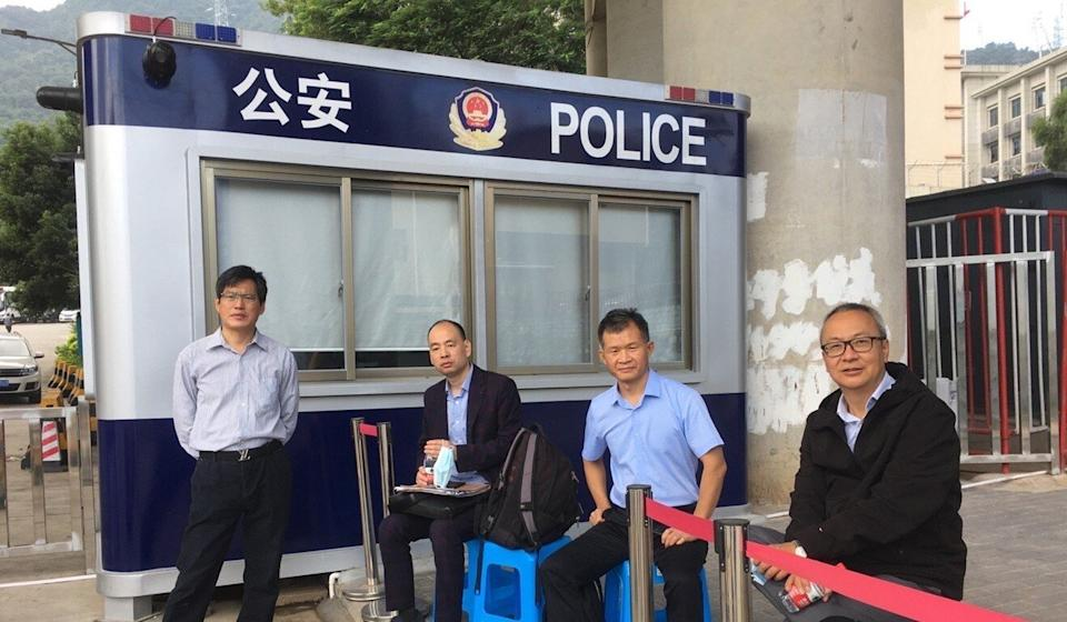 Four of the five mainland lawyers who visited the detention centre in Shenzhen. Photo: Handout