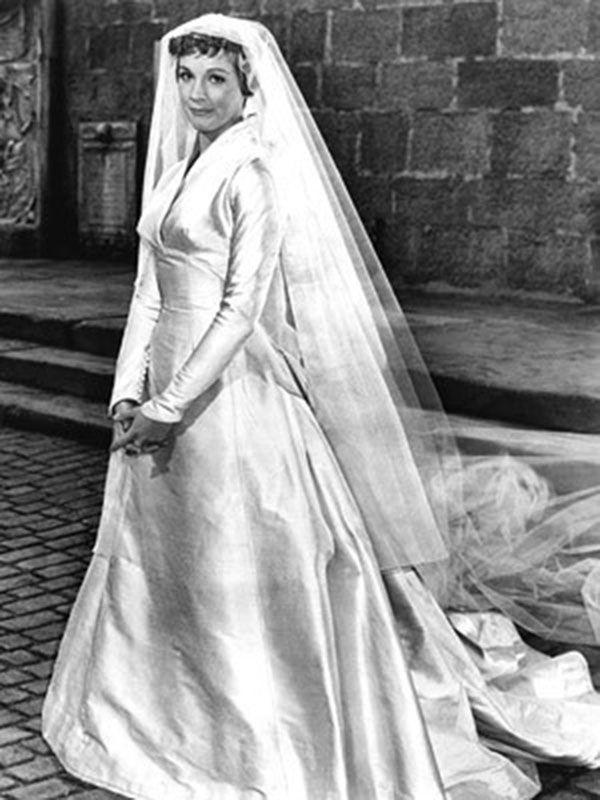 <p>This 1965 musical classic is great for many reasons, not the least of which is Maria's (Julie Andrew) classically modest and sophisticated wedding dress. </p>