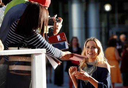 """Actor Maria Bello arrives on the red carpet for the film """"The Journey is the Destination"""" during the 41st Toronto International Film Festival (TIFF), in Toronto, Canada, September 14, 2016.    REUTERS/Mark Blinch"""