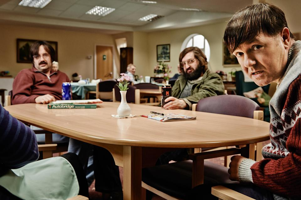 <p> <strong>UK:</strong> Netflix, to buy on Amazon Prime Video </p> <p> <strong>US:</strong> Netflix </p> <p> Ricky Gervais stars in this comedy drama about a sincere and heart-warming care worker. Always seeing good in people and trying to do his best, Derek will win you over quickly, but fair warning, the show has just as many tear-inducing scenes as it does laughs. If you want to watch something to help you see the good in people right now though, you can't go wrong here. </p>